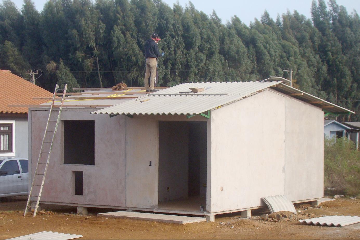 Colocação do telhado