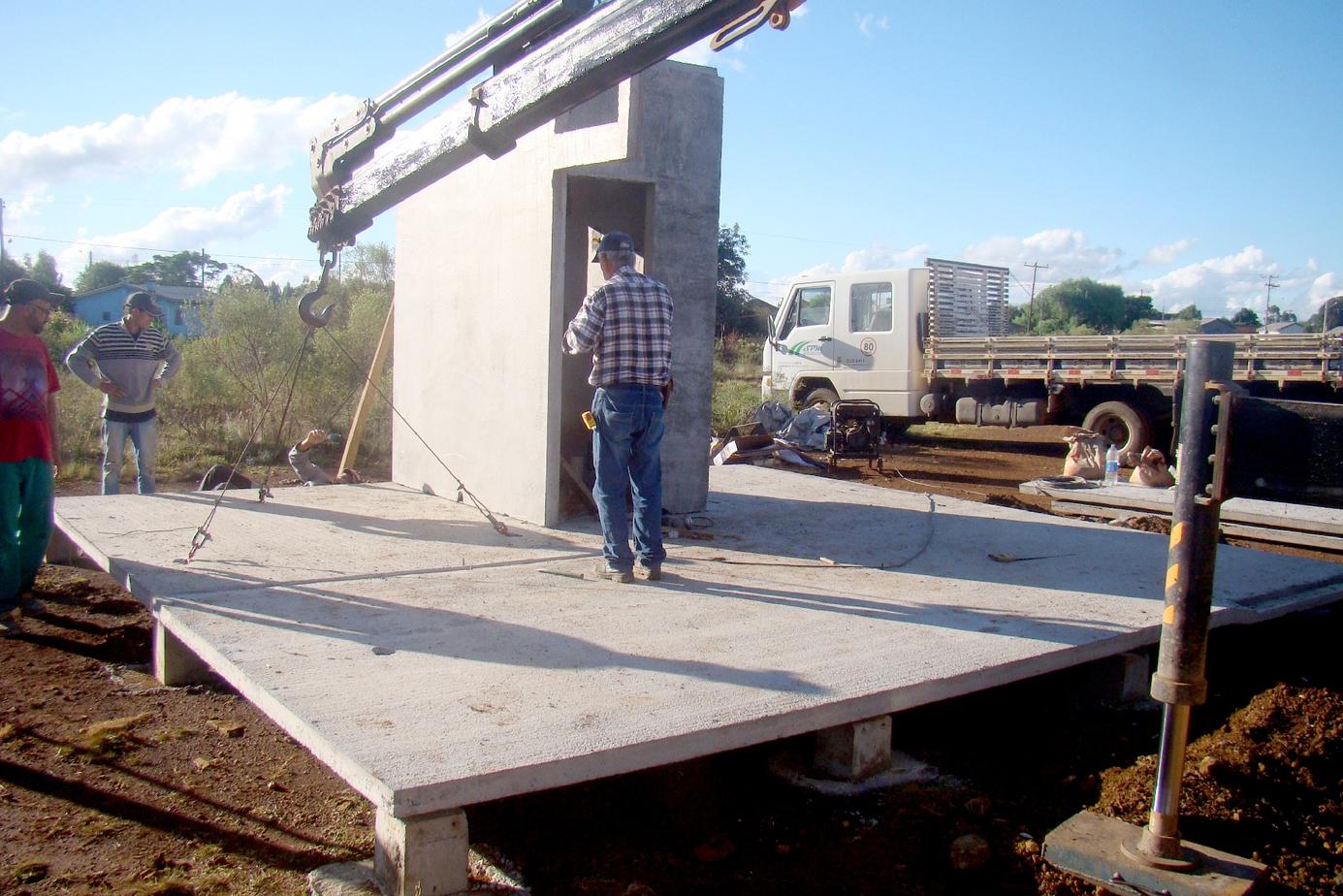 Colocação lajes de piso