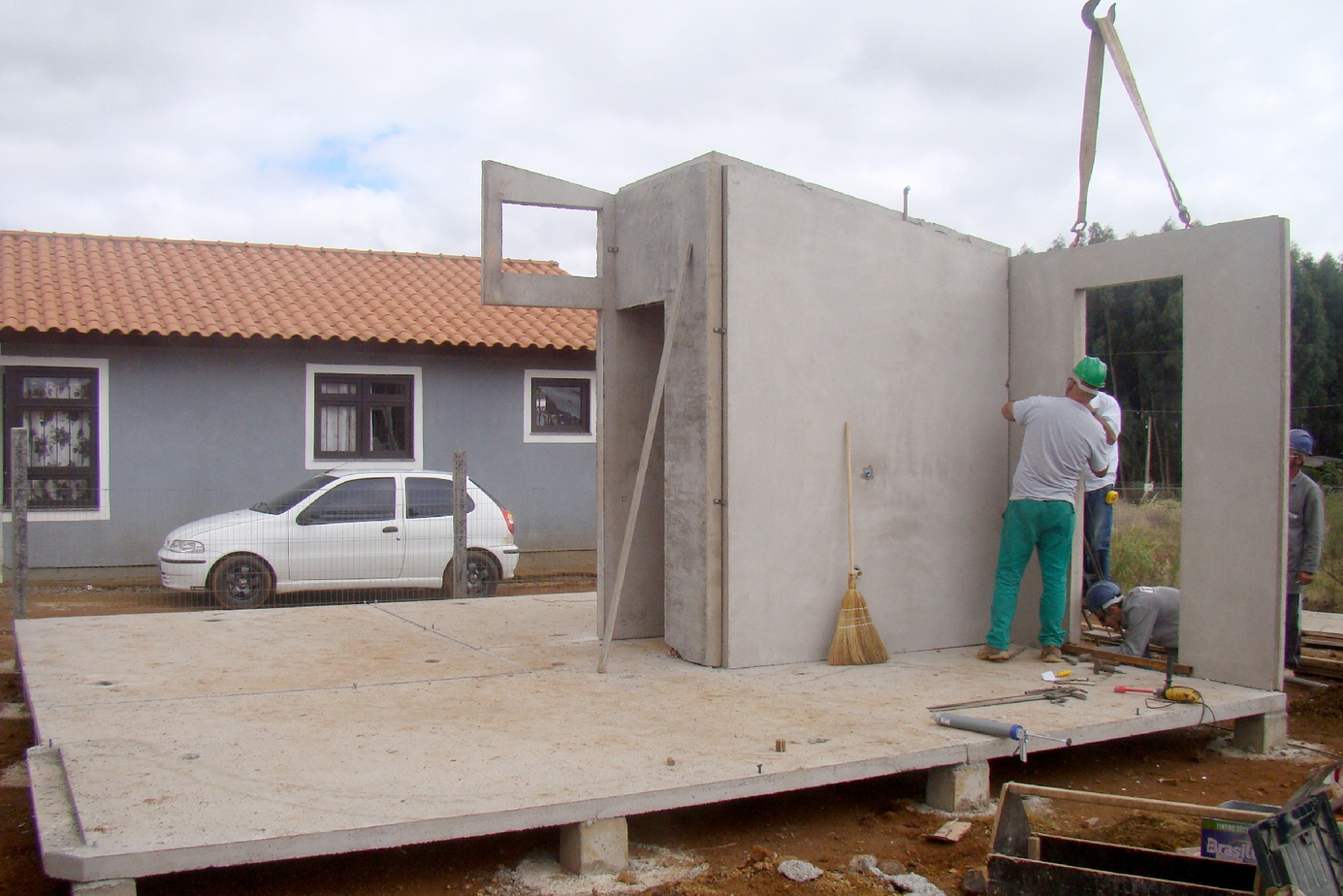 Colocação de paredes