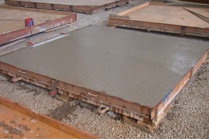 Concretagem de laje de piso